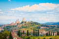 Historical center of the medieval village of San Gimignano Royalty Free Stock Photo