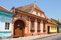 Historical centre of medias medieval city in transylvania romania Royalty Free Stock Photo