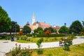 Historical centre of medias medieval city in transylvania romania Stock Images