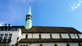 Historical Church in zurich horizontal Royalty Free Stock Photo