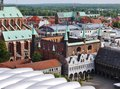 The historical city hall in luebeck historic town of lubeck sleswig holstein germany Royalty Free Stock Photo