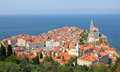 Historical city piran slovenia Royalty Free Stock Image