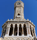 Historical clock tower of izmir turkey Royalty Free Stock Image