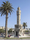 Historical clock tower of izmir turkey Royalty Free Stock Photo