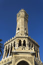 Historical clock tower of izmir turkey Royalty Free Stock Photos
