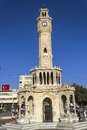 Historical clock tower of izmir turkey Royalty Free Stock Photography