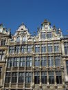 Historical decorated houses in Brussels Royalty Free Stock Images