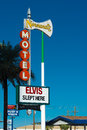 Historical elvis slept here sign in las vegas october one of several signs saved and resurrected by the neon museum that Royalty Free Stock Image