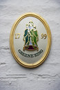 A historical emblem of greene king brewery close up the wall decor cambridge uk Stock Image