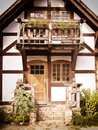 Historical house a facade and porch Royalty Free Stock Photo