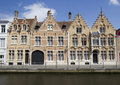 Historical Houses in Bruges, Belgium Stock Photos