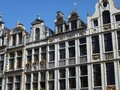 Historical houses in Brussels opposite a blue sky Royalty Free Stock Photos