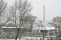 Historical istanbul city winter season Royalty Free Stock Photography