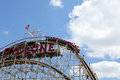 Historical landmark cyclone roller coaster in the coney island section of brooklyn new york july on july is a Stock Photos