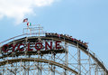 Historical landmark cyclone roller coaster in the coney island section of brooklyn new york may on may is a Royalty Free Stock Images