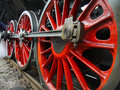 Historical locomotive wheels czech train based on steam engine detail this model nickname noblewoman is used for train Stock Image