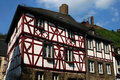 Historical medieval houses in Germany Royalty Free Stock Photos