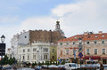 Historical old town street view in vilnius lithuania august Royalty Free Stock Image