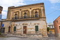 Historical palace san vito dei normanni puglia italy of Royalty Free Stock Images