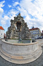 Historical parnas fountain on the place of vegetable market old brno czech republic Stock Photography