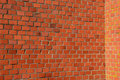Historical red bricks wall background Stock Photography
