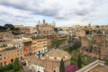 Historical rome the great beauty view from the roman forum on the city wonderful spring day Stock Photo