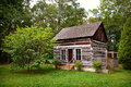 Historical Rustic Pioneer Log Cabin House Ontario Canada Royalty Free Stock Photo