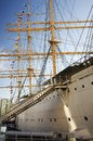 Historical ship deatil of sail viking in the gothenburg harbor Royalty Free Stock Photo