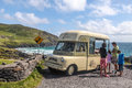 Historical snack car at slea head iveragh peninsula county kerry ireland Stock Image
