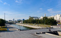Historical square Iset river  Yekaterinburg Royalty Free Stock Images