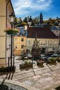 Historical square in town center of Banska Stiavnica, Slovakia,