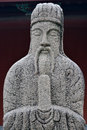 Historical statue of goverment officer in ancient china ming dynasty with majestic looking shown as featured historical art and Stock Photo