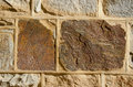 Historical stone bricks fort wall background Stock Image