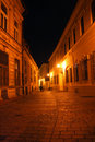 Historical street in a night