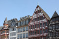 Historical timbered houses in frankfurt germany Royalty Free Stock Photo