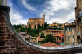 Historical town of siena tuscany italy with san domenico Stock Images