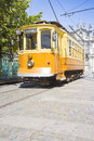 The historical trasportation of Porto - on background the Royalty Free Stock Photo
