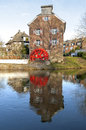 Historical watermill the Susmuhle on River Niers Stock Photography