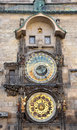 Historically astronomical clock prague czech republic europe view of the historical Royalty Free Stock Photos