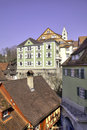 Historically old town of Meersburg Stock Photos