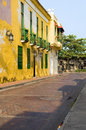Historische architectuur Cartagena Colombia Royalty-vrije Stock Foto