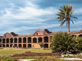 Historisches Fort Jefferson im trockenen Tortugas Stockfotos