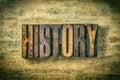 History antique letterpress wood type printing blocks Stock Image