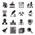 History & archaeology icons Royalty Free Stock Photo