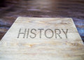 History book on wood paper