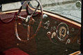 History car old red cockpit Royalty Free Stock Images