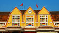 History destination for vietnam travel da lat viet nam jan close up of ancient station famous place in with french architecture Royalty Free Stock Photo