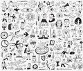 History , fairy tale - doodles set