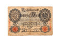 History of german bank note zwanzig mark old banknote Royalty Free Stock Photography