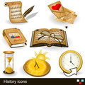 History icons illustration of different Stock Photo